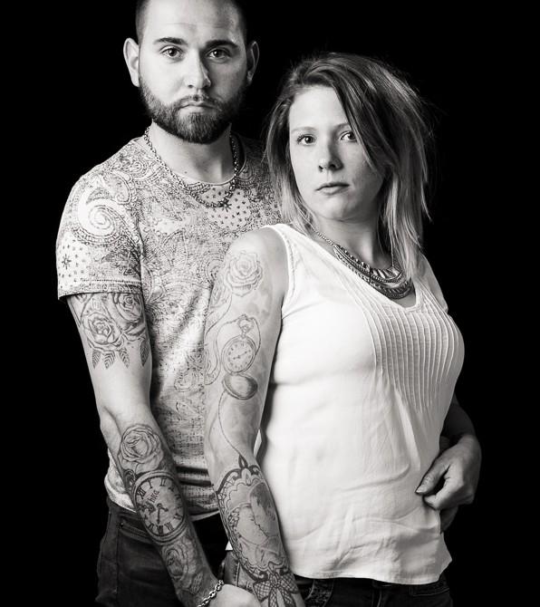 Portraits avec tatouages